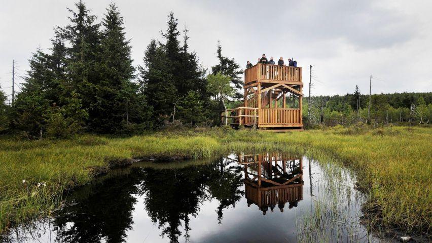 Rozhledna Na Čihadle | Rašelinové pole Jizerských hor | Chalupa Amálka výlety po Jizerských horách