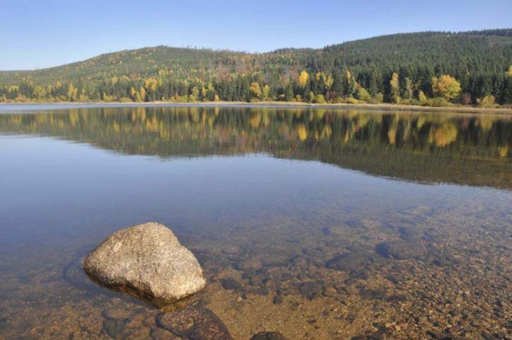 Vodní nádrž Souš Jizerské hory    Chalupa Amálka dovolená Jizerské hory