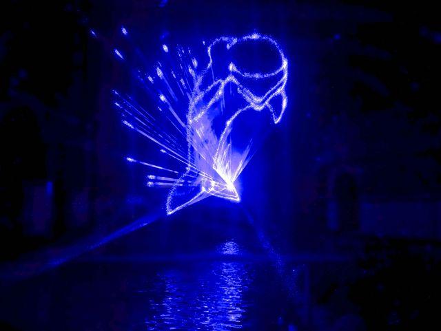 Laser show Aquapark bazén Liberec