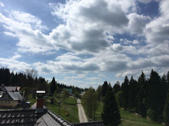 Pohled z Amálky na blízké okolí | Chalupa Amálka pronájem chalupy na víkend Jizerské hory